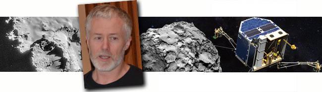 Philae et Bernard Schmitt sur la planète Tchouri